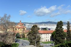 City view of Barcelona from Montjuic. Royalty Free Stock Photos