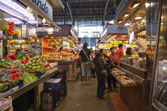 Market La Boqueria in Barcelona, Spain Royalty Free Stock Photography