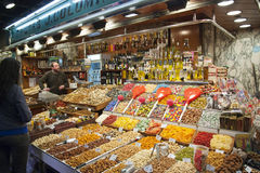 Market La Boqueria in Barcelona, Spain Royalty Free Stock Image
