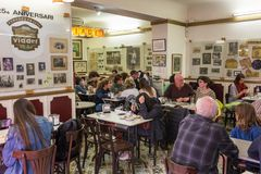 Famous traditional cafe Granja M Viader in Barcelona stock image