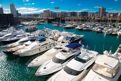 Yachts in Port Forum. Barcelona Royalty Free Stock Image