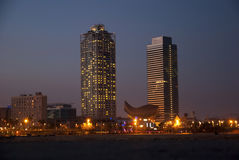 Mapfre twin towers, Barcelona Royalty Free Stock Images