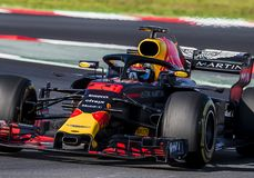 FORMULA ONE TEST DAYS 2018 - MAX VERSTAPPEN royalty free stock images