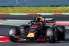 FORMULA ONE TEST DAYS 2018 - MAX VERSTAPPEN royalty free stock image