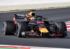FORMULA ONE TEST DAYS 2018 - MAX VERSTAPPEN Royalty Free Stock Photography