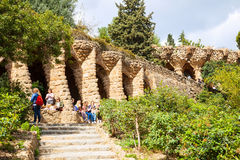 Park Guell. Barcelona, Spain Stock Photo