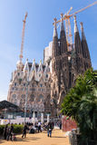 Basilica and Expiatory Church of the Holy Family (Sagrada Famili Royalty Free Stock Photography