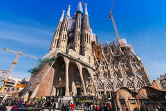 Basilica and Expiatory Church of the Holy Family Royalty Free Stock Image