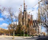 Basilica and Expiatory Church of the Holy Family (Sagrada Fami Royalty Free Stock Photos