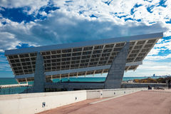 Sculptural photovoltaic plate. Barcelona Stock Images