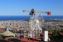Amusement Park in Barcelona Royalty Free Stock Photo