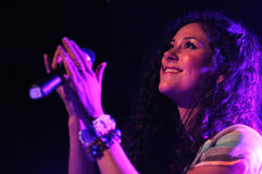 Eliza Doolittle band performs at Barcelona Royalty Free Stock Image