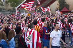 BARCELONA, SPAIN - may 30 2015: Final match of cup of spain 2015 stock images