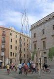 Barcelona, Spain - May 17, 2014: Homenatge als castellers Stock Photos