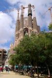 Barcelona, Spain - May 17, 2014: The Sagrada Familia, Antoni Gaudi's unfinished masterpiece. Barcelona, Spain - May 17, 2014: The Sagrada Familia, Antoni Gaudi' royalty free stock image