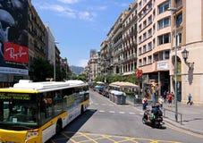Barcelona, Spain - May 17, 2014: The streets of Barcelona, urban transport Royalty Free Stock Photo