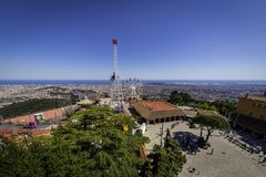 Amusement Park Tibidabo stock photos