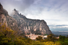 Barcelona, Spain, Monastery of Montserrat Stock Photos
