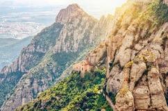 BARCELONA, SPAIN, MONTSERRAT. Beautiful views of the Montserrat mountains Stock Image