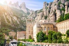 BARCELONA, SPAIN, MONTSERRAT. Montserrat Monastery, Catalonia, Spain. Santa Maria de Montserrat is a Benedictine abbey located on the mountain of Montserrat Royalty Free Stock Photos