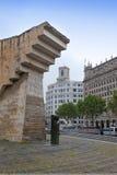 barcelona spain Monument till Francesc Macia i Placa de Catalunya Royaltyfri Foto