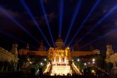 Barcelona, Spain - National art museum of Catalunya in Plaza de Espana Royalty Free Stock Photo