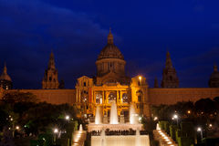 Barcelona, Spain - National art museum at Montjuic Royalty Free Stock Images