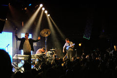 Battles band, performs at Apolo Stock Photos
