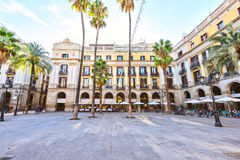 BARCELONA, SPAIN - November 10: Plaza Real Placa Reial . Royal Square Catalonia Royalty Free Stock Images
