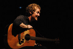 Glen Hansard, singer of The Swell Season and lead actor of the film Once. BARCELONA, SPAIN - OCT 6: Glen Hansard, singer of The Swell Season and lead actor of Royalty Free Stock Images