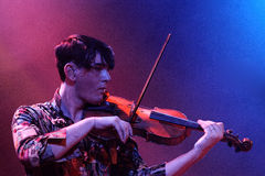 Patrick Wolf with a violin Royalty Free Stock Photos