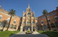 Barcelona, Spain - October 15, 2017. Modernist site of Sant Pau, built between 1905 and 1930 stock image