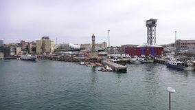 BARCELONA, SPAIN – OCTOBER 3: Overview of the Port of Barcelona. October 3, 2015 in Barcelona, Spain Stock Photography