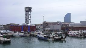 BARCELONA, SPAIN – OCTOBER 3: Overview of the Port of Barcelona. October 3, 2015 in Barcelona, Spain Stock Photo