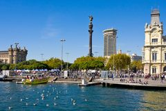 BARCELONA, SPAIN - OCTOBER 18, 2014: Port Vell in Barcelona, Spain Stock Image