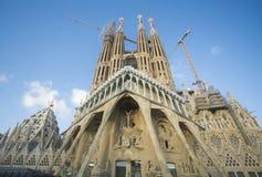 Barcelona, Spain - October 14, 2017. The Sagrada Familia is a Catholic basilica of Barcelona. Stock Photography