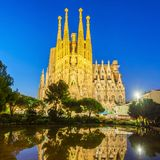 Sagrada Familia cathedral in Barcelona Royalty Free Stock Images