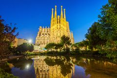 Sagrada Familia cathedral in Barcelona stock image
