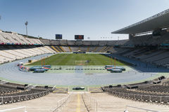 Barcelona (Spain): Olympic Stadium Royalty Free Stock Photos