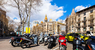 Barcelona, Spain. Passeig de Gracia Stock Photos