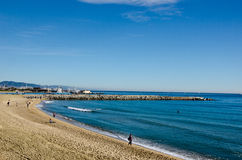 Barcelona, Spain. Playa de Barcelona Spain Stock Photography