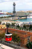 BARCELONA, SPAIN, Port Cable Car Royalty Free Stock Image
