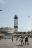 BARCELONA, SPAIN, Port Cable Car Stock Image