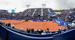 R.Nadal- D,Ferrer,  players in The Barcelona Open, an annual tennis tournament for male professional player. Barcelona, Spain; 04 25 2019: R.Nadal - D. Ferrer stock images