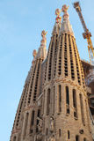 Barcelona, Spain. Sagrada Familia. The cathedral by Gaudi Stock Images