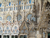 05.07.2016, Barcelona, Spain: Sagrada Familia church architectu Royalty Free Stock Image