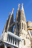 Barcelona in Spain. Sagrada Familia Church, Gaudi Royalty Free Stock Photo