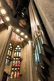 Barcelona Spain, Sagrada Familia church, interior, royalty free stock photos