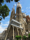 05.07.2016, Barcelona, Spain: Sagrada Familia church under cons Royalty Free Stock Photography