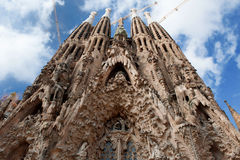 Barcelona, Spain - Sagrada Familia, roman catholic church designed by the architect Antoni Gaudi Stock Image